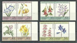 TUVALU-Nanumaga/ Blumen MiNr 41/48 ** 4 Paare