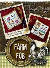 Lizzie Kate Farm Fob Cross Stitch Kit Linen Beads Rick Rack