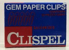 Clispel GEM Galvenized paper clips 50 count box