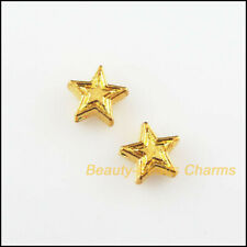 35Pcs Gold Tone DIY Tiny Star Charms Spacer Beads 7.5mm