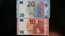 EUROPEAN UNION 20 & 10 Euro 2015/2014 P22/P21 Draghi x 2 UNC Banknotes