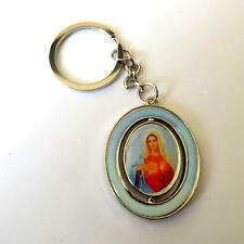 Key Chains, Stainless steel  - revolving pendant -  ITALY - Madonna  -  28 V