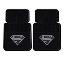 New 2pc Set Comic Superhero Superman Silver Shield Car Truck Rubber Floor Mats