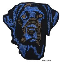 Dog Blue Labrador Dog Iron on Sew on Patch Embroidered Patch For T-Shirt