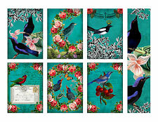 Beautiful Birds and Roses Hang Tags and Bookmark - Scrapbooking, Paper Crafts