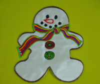 FROSTY THE SNOWMAN CHRISTMAS Embroidered Iron Sew On Cloth Patch Badge APPLIQUE