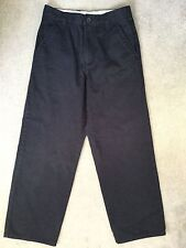 TOMMY HILFIGER NAVY BLUE STRAIGHT CUT COTTON TROUSERS - AGE 14y