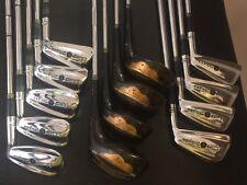 Vintage Walter Hagen Complete Set Golf Clubs 1960's 70s 2-pw 4 Persimon  Woods