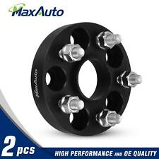 "2 1"" 5x100 5X4"" M12x1.25 Studs Wheel Spacers Black for 97-16 Subaru Forester"
