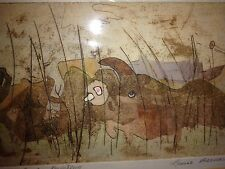 Louise Bernard Listed Chicago Modernist Expressionism Artist Colored Etching Wow