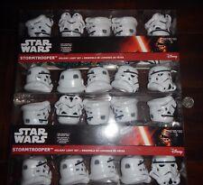 Disney Star Wars Stormtrooper Helmet Holiday String Light Set Lot of 2 New