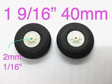 "1Pair Ultra Light Weight PU Wheels for RC Airplane 1 9/16"" x ⌀1/16"" TH006-04202"