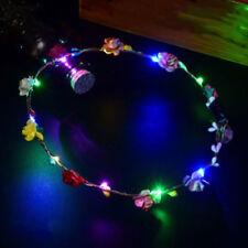 Multicolor Bohemia LED Floral Flower Hair Band Headband Light-Up Wedding Party