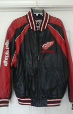 DETROIT RED WINGS RED BLACK WHITE NHL LEATHER JACKET SIZE  M