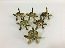 6 Vintage Brass Christmas Mistletoe Napkin Holders Rings
