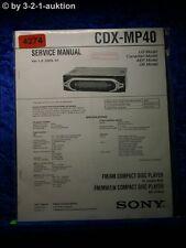 Sony Service Manual CDX MP40 CD Player (#4274)