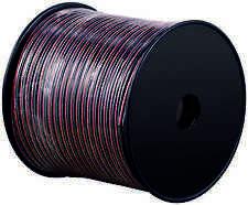 100m Lautsprecherkabel 2 x 1,50 mm² Litzenkabel Boxenkabel 2x1,5mm² rot-schwarz