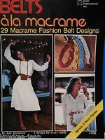 29 macrame fashion belt designs, disco purses - Vintage patterns CP7286