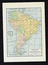 Political Map of SOUTH AMERICA - Vintage 1930 Map