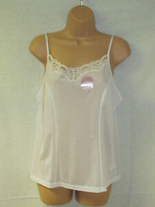 Ladies Camisole Top Size  12 to /26  Black or White - Cream By Marlon (071)