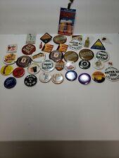 Huge Button And Pins Beer Alcohol Lot Bacardi Maker's Mark hops Samuel Adams etc