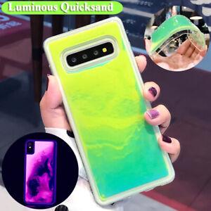 Glow Luminous QuickSand Case For Samsung Galaxy S20 Ultra A50 A70 Liquid Cover