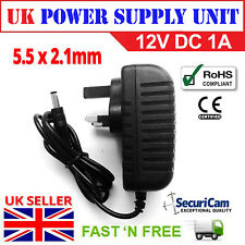 12V 1A UK Power Supply AC/DC Adapter Charger for CCTV Camera & LED Strip Light