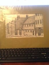 """Matted PRINT: PAUL REVERE HOUSE-NORTH SQUARE BOSTON BY C.M.GOFF 7""""X11"""" 12""""X16"""""""