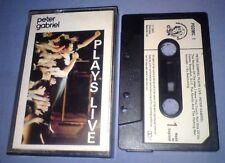 PETER GABRIEL PLAYS LIVE PAPER LABELS cassette tape album T5348