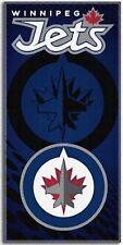 "NHL 30"" x 60"" Emblem Shadow Series Cotton Beach Towel, Winnipeg Jets"