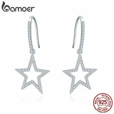 with Aaa Cz For Women Jewelry Bamoer Shine S925 silver earrings Starry Dangle