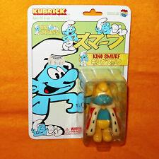 2004 Medicom Toys Kubrick Peyo The Smurfs King Smurf Action Figure Moc Carded