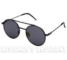 FENDI black AIR Circular FF0221S metal black lenses Sunglasses NWT Authent $430!