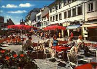 KISSINGEN Fußgängerzone Personen vor Nordsee Restaurant color ~ 1970/80 ungel.