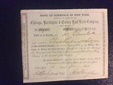 Chicago,Burlington & Quincy Rail Road Company 1861