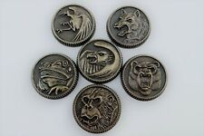 Ninja Ninjetti Set of 6 Gold Power Coins made for Legacy Morpher Prop Cosplay