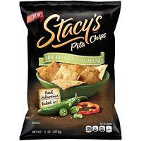 Stacy's Pita Chips Fire Roasted Jalapeno 3 oz (Pack 4)