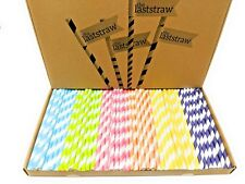 the Last Straw - 100% Biodegradable Paper Drinking Straws (150 Pack)(Rainbow)