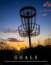 Frisbee Disc Golf Motivational Poster Art Print Flying Discs Bag Goals MVP510