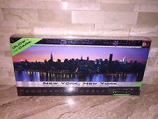 NEW YORK NEW YORK GLOW IN THE DARK PANORAMIC JIGSAW PUZZLE 765 PCS
