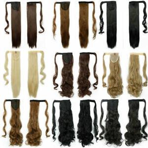 LZ Curly Wrap Around Hair Ponytail Hair Extension Drawstring Magic Stickers Hair