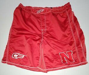 Red Cage Fighter Wrestling Men's Shorts Size XXL Nebraska