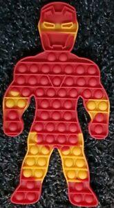 Iron Man Push it Bubble Pop Fidget Sensory Toy ADHD Stress Reliever Autism Toys