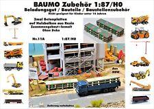 Nr.11A 2 x Betonplatte auf Holzbalken 1:87/H0 Resin f.Baufahrzeuge Eisenbahn LkW