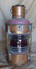 Copper Vintage ship nautical anchor lantern w/ fresnel lens-Anker Lantern