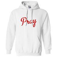 Pray Kingpin HOODIE - Hooded Praise Jesus God Script Sweatshirt - All Colors