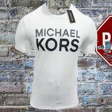 NWT MICHAEL KORS AUTHENTIC MEN'S WHITE CREW NECK SHORT SLEEVE T-SHIRT S M L XL