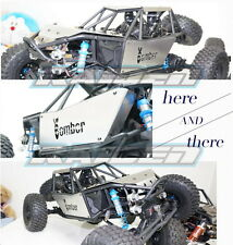 Axial RR10 Bomber 90048 90053 Stainless Steel Body Armor Roof+Side+Hood Panel