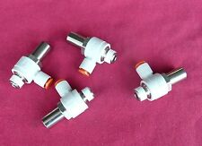 Lot Of Four (4) Smc As3201F-N02-07Sd Flow Controls, Tamper Proof, Made In Japan