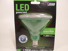 LED GREEN PAR38 FLOOD LIGHT WEATHERPROOF Indoor Outdoor Bulb Feit Electric